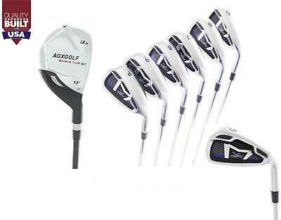 AU191.92 • Buy Agxgolf Boys Right Hand (choose Length) Magnum Iron Set: #3 Hybrid+5-9 Irons+pw