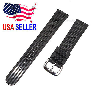 $ CDN43.99 • Buy 19mm SOFT Rubber Waffle Watch Band For Vintage Seiko 6105 6217 6159 Diver Watch