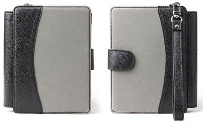 Grey / Black Leather Case Cover For New Amazon Kindle 4 With Led Reading Light • 2.95£