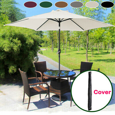 Aluminium 3M Large Round Garden Parasol Canopy Patio Sun Shade Umbrella Cover • 75.98£