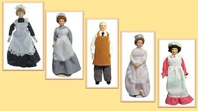 $ CDN13.69 • Buy 1:12 Scale Dolls House Miniature Poseable Doll Domestics Staff 5  To Choose.