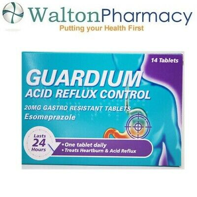 GUARDIUM Tablets Heartburn And Acid Reflux Control By Gaviscon, Pack Of 14 • 10.99£