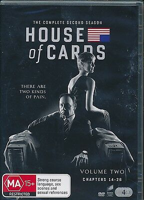 AU18 • Buy House Of Cards The Complete Second Seasons DVD NEW Kevin Spacey Region 4