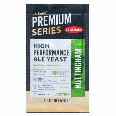 AU9.48 • Buy Lallemand Nottingham Ale Beer Yeast 11g  Home Brew Sachets  FP
