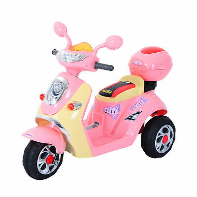 £78.99 • Buy HOMCOM Electric Ride On Toy Car Kids Motorbike Children Battery Tricycle Pink