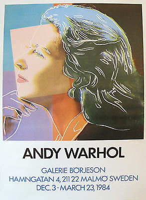 $675 • Buy Rare 1990 Original Andy Warhol, Ingrid Bergman Pop Art Poster, German Exhibition