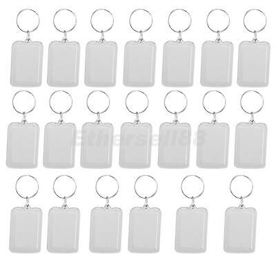 £7.57 • Buy   Oblong Blank Clear Acrylic Keyring Make Your Own Photo Keychain 38x25mm