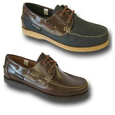 Yachtsman Deck Shoes Size 13 & 14 Navy Brown  : Post Free  Big Sized Shoes • 39.99£
