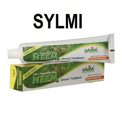 NATURAL Neem Advance Toothpaste With Mint Fluoride-Free Vegan/Vegetarian 6.42 Oz • 7.78£
