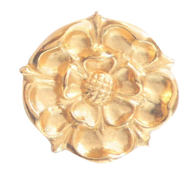 House Of Lancaster Lancashire Rose Pin Badge In Gold Plated English Pewter • 6.50£