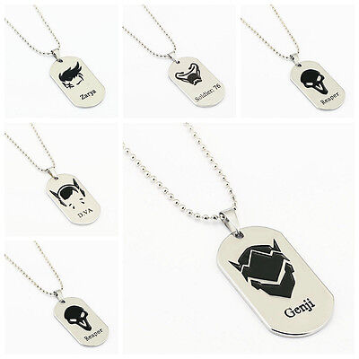 AU15.88 • Buy Overwatch Logo Necklace Pendant Chain Cosplay Necklace Jewelry