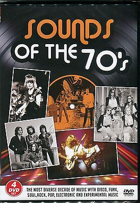 SOUNDS OF THE 70s Four DVD Set - STATUS QUO T.REX 10CC DAVID CASSIDY &MORE 1970s • 12.99£