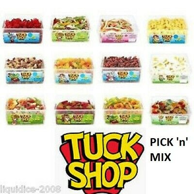 TUBS BAGS TUCK SHOP SWEETS 50 DIFFERENT PICK 'n' MIX LACES CANDY CHOCOLATE TUBS • 14.99£