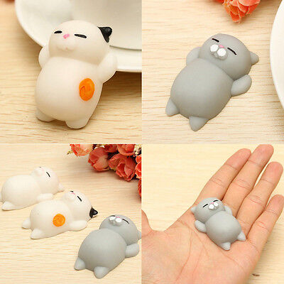 $ CDN2.59 • Buy Soft Lovely Cat Squishy Healing Squeeze Fun Kid Toy Gift Stress Reliever Decor