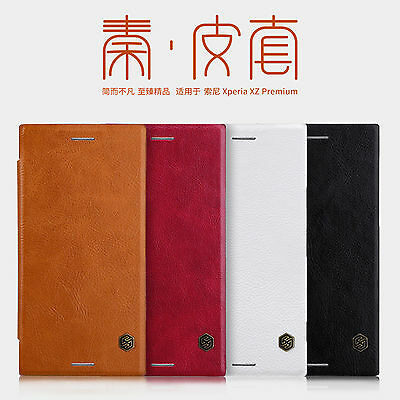 AU10.36 • Buy Nillkin PU Leather Flip Full Cover Case For Sony Xperia XZ3 / XZ2 Premium