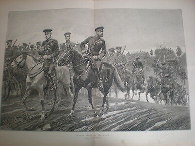 Russian Army Troops On The March R Caton Woodville 1887 Old Print Russia • 12.50£