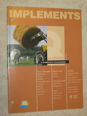 AU26.71 • Buy Quicke Front Tractor Loading Implements 12 Page Brochure