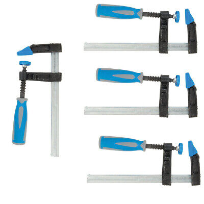 4 Pack - Heavy Duty 150mm X 50mm F Clamps - Soft Grip Quick Slide Non Marking • 13.80£
