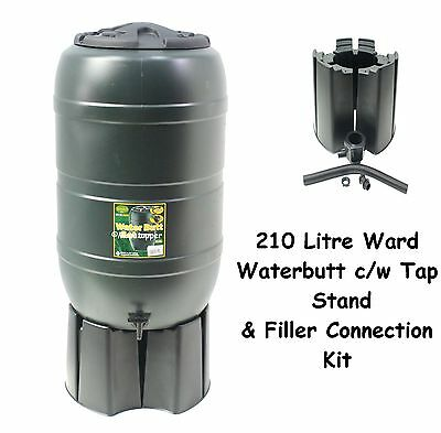 Ward Garden Green Plastic 210 Litre Water Butt Kit C/w Stand Tap Connection Set • 42.95£