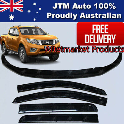 AU115 • Buy For Navara NP300 D23 Bonnet Protector Guard And Weather Shields Visors 2014-2020