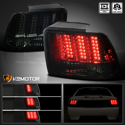 $165.38 • Buy Fit 1999-2004 Ford Mustang Smoke Sequential LED Tail Light Brake Lamps L+R 99-04