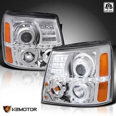 $214.38 • Buy For 2002-2006 Cadillac Escalade LED Halo Clear Projector Headlights L+R 02-06