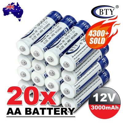 AU7.95 • Buy 4-20X BTY AA Rechargeable Battery Recharge Batteries 1.2V 3000mAh Ni-MH OZ