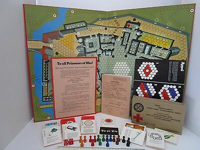 Vintage 1970's ESCAPE FROM COLDITZ Board Game By Parker [Spares Replacements] • 1.99£
