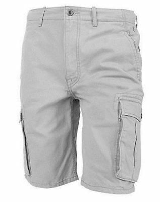 $36.98 • Buy Levi's Men's Premium Cotton Ace Twill Cargo Shorts Relaxed Fit Gray 124630020