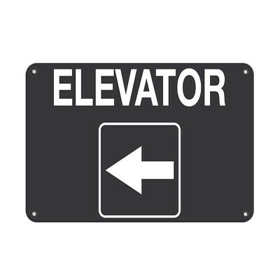 $38.99 • Buy Elevator Style 3 Business Sign Elevator Signs Aluminum METAL Sign