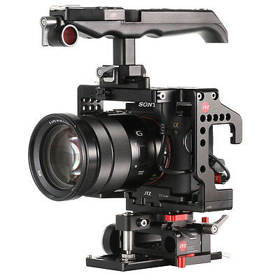$ CDN453.38 • Buy JTZ DP30 Camera Video Cage Baseplate Handle Rig For SONY A9 A7III A7RIII A7SIII