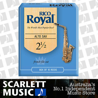 AU46.99 • Buy Rico Royal Alto Sax Saxophone 10 Pack Reeds Size 2.5 ( 2 1/2 - Two And A Half )