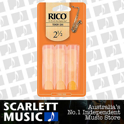 AU19.95 • Buy Rico Tenor Sax Saxophone Reeds 3 Pack Reed Size 2.5 3PK (2 1/2 - Two And A Half)