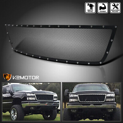 $104.38 • Buy 2005-2007 Silverado 1500HD 2500HD 3500 Upper Rivet Mesh Grille Insert Black