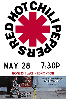 $15.83 • Buy RED HOT CHILI PEPPERS 2017 CALGARY Or EDMONTON CONCERT TOUR POSTER: You Choose!