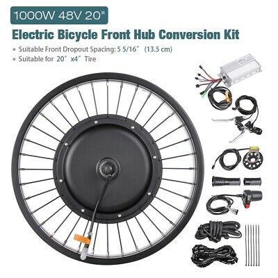 $241.90 • Buy 48V 1000W 20  Electric E-Bike Front Wheel Bicycle Motor Conversion Kit Fat Tire