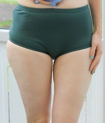 Gym Knickers Size 6-8 Age12/13yrs Netball Panties  PE/Games/ Briefs Cotton Green • 4.99£