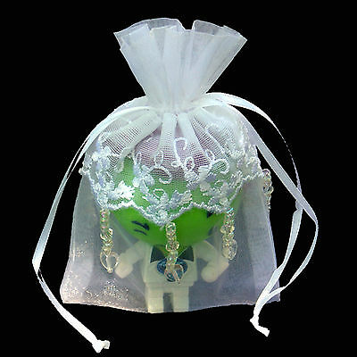4  X 6  Embroidered Lace Beaded Organza Wedding Favor Bag-24/pk • 8.98£