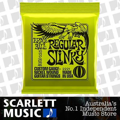 AU12.49 • Buy Ernie Ball 2221 Regular Slinky 10-46 Electric Guitar Strings *BRAND NEW*