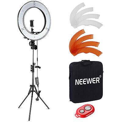 AU129.99 • Buy Neewer Dimmable 18 /48cm LED Ring Light Camera Photo Video Light Kit For YouTube