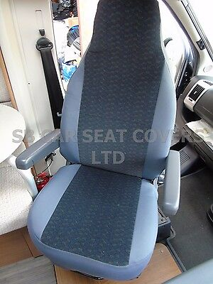 To Fit A Fiat Ducato Motorhome, Seat Covers, Toothpick Grey Mh-187 • 79.99£