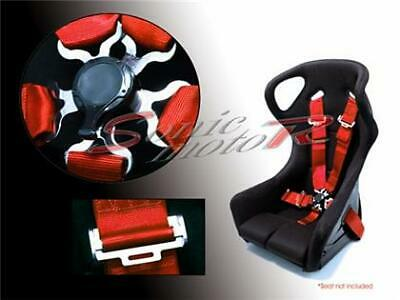 AU62.29 • Buy Sonic Motor 5 Point Racing Seat Belt  Safety Harness With CamLock Cam Lock - RED