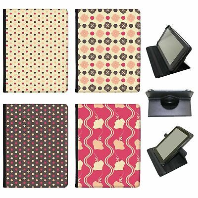 Lovely Pretty Flowers & Dots Universal Folio Leather Case For Samsung Tablets • 9.99£