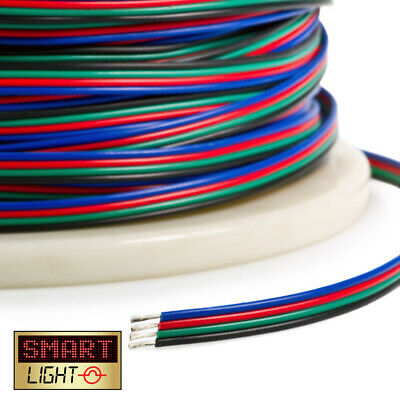 2-50m 4 + 5 Pin RGB RGBW LED Strip Extension Connector Cable Wire 5050 3528 2835 • 2.49£