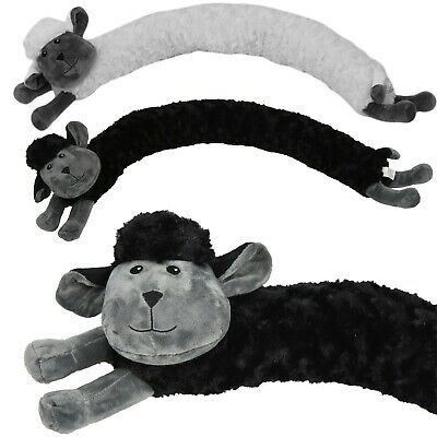 Novelty Draught Excluder Sheep Design Fabric Fleece Draft Door Stopper Cushion • 6.99£