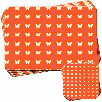 £19.99 • Buy Stunning Butterfly On Orange Set Of 4 Placemats And Coasters