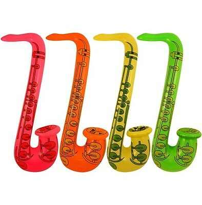 £4.50 • Buy 1 - 20 X INFLATABLE SAXOPHONE BLOW UP FANCY DRESS PARTY MUSICAL INSTRUMENT 55 Cm