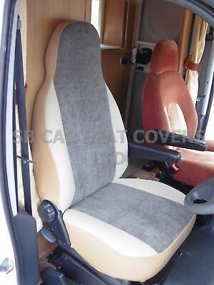 I - TO FIT PEUGEOT BOXER 2000 MOTORHOME SEAT COVERS, SOFT MOCHA BROWN • 79.99£