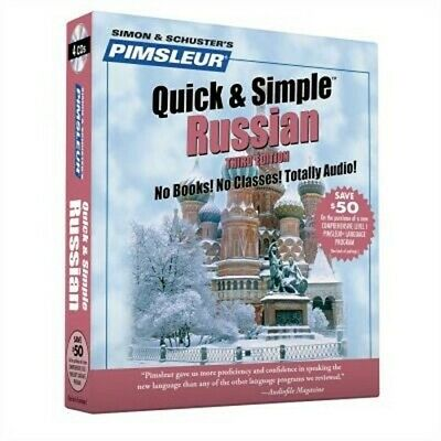 £12.08 • Buy Pimsleur Russian Quick & Simple Course - Level 1 Lessons 1-8 CD: Learn To Speak