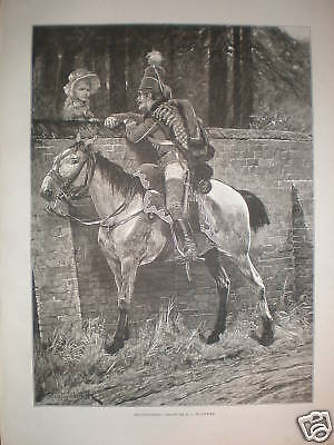 Reconnoitring R Caton Woodville Print 1886 • 8.99£